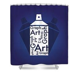Graph Art Spray Can Shower Curtain by Sheila Mcdonald