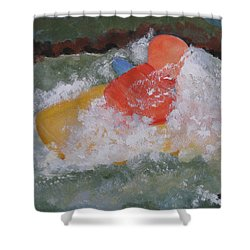 Shower Curtain featuring the painting Spray by Sandy McIntire