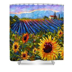 Spread A Little Sunshine Shower Curtain by Chris Brandley