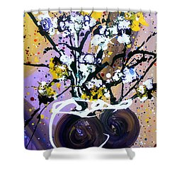 Spreading Joy Shower Curtain by Pearlie Taylor