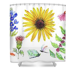 Spring 2017 Medley Watercolor Art By Kmcelwaine Shower Curtain by Kathleen McElwaine