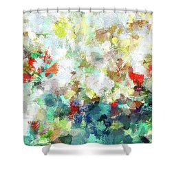 Shower Curtain featuring the painting Spring Abstract Art / Vivid Colors by Ayse Deniz