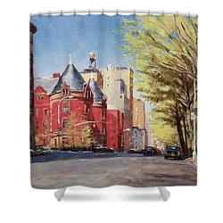 Spring Afternoon, Central Park West Shower Curtain by Peter Salwen