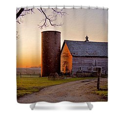 Spring At Birch Barn Shower Curtain