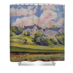 Spring At The Hoeve Zonneberg Maastricht Shower Curtain
