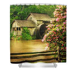 Spring At The Mill Shower Curtain