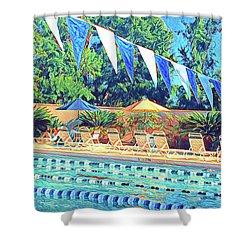 Spring At The Pool Shower Curtain