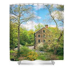 Spring At The Stone Mill  Shower Curtain by Jessica Jenney