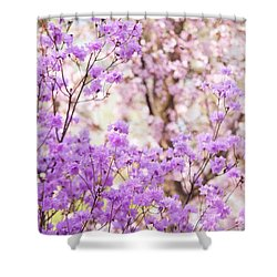 Shower Curtain featuring the photograph Spring Bloom Of Rhododendron  by Jenny Rainbow
