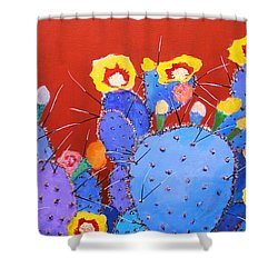 Spring Blooms Shower Curtain by M Diane Bonaparte