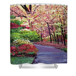 Spring Blossoms Impressions Shower Curtain