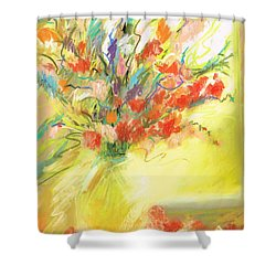 Shower Curtain featuring the painting Spring Bouquet by Frances Marino