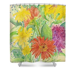 Shower Curtain featuring the painting Spring Bouquet  by Vicki  Housel