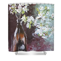 Spring Breakfast Shower Curtain