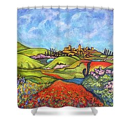 Spring Breeze Shower Curtain by Rae Chichilnitsky
