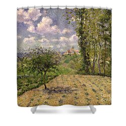 Spring Shower Curtain by Camille Pissarro
