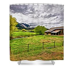 Spring Coming To Life Shower Curtain