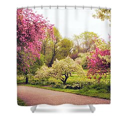 Spring Crescendo Shower Curtain by Jessica Jenney