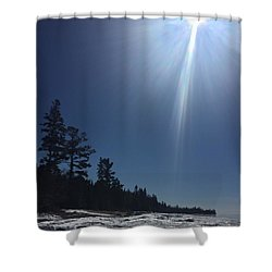 Spring Day Lake Superior Shower Curtain
