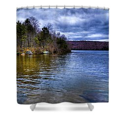 Spring Day On Limekiln Shower Curtain by David Patterson