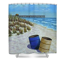 Spring Day On The Beach Shower Curtain