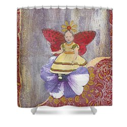 Shower Curtain featuring the mixed media Spring by Desiree Paquette