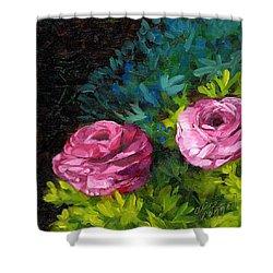 Spring Dewdrops Shower Curtain by Alice Leggett