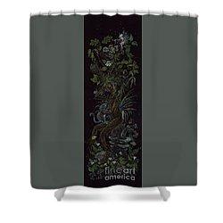 Spring Dryad Shower Curtain by Dawn Fairies