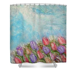 Spring Emerging Shower Curtain by Lyric Lucas