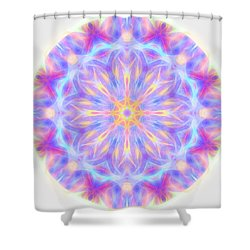 Spring Energy Mandala 3 Shower Curtain
