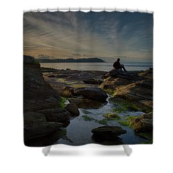 Spring Evening Shower Curtain by Randy Hall