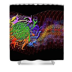 Spring Explodes Nighttime Shower Curtain