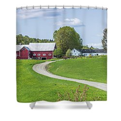 Spring Farm Shower Curtain by Tim Kirchoff
