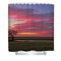 Spring Fed Peace Shower Curtain