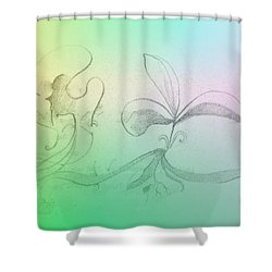 Shower Curtain featuring the mixed media Spring Feelings 1 by Denise Fulmer