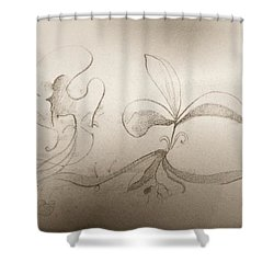 Shower Curtain featuring the mixed media Spring Feelings 2 by Denise Fulmer