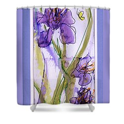 Shower Curtain featuring the painting Spring Fling by P J Lewis