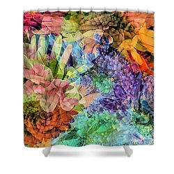 Spring Floral Composite  Shower Curtain by Janice Drew