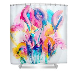 Spring Floral Abstract Shower Curtain by Lisa Kaiser