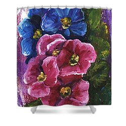 Shower Curtain featuring the painting Spring Flowers by Alga Washington
