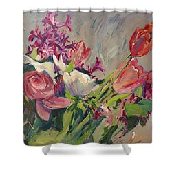 Spring Flowers Bouquet Shower Curtain