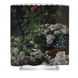 Spring Flowers Shower Curtain by Claude Monet