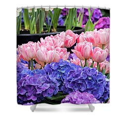 Shower Curtain featuring the photograph Spring Flowers by Darleen Stry