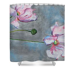 Shower Curtain featuring the painting Spring Flowers  by Reina Resto