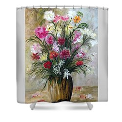 Spring Flowers Shower Curtain by Renate Voigt