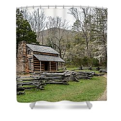 Spring For The Settlers Shower Curtain by Debbie Green