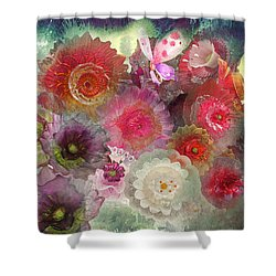 Spring Glass Shower Curtain by Jeff Burgess