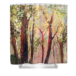 Spring Green Shower Curtain