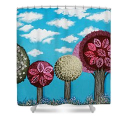 Spring Grove Shower Curtain by Graciela Bello