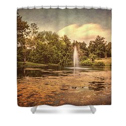 Spring Grove Water Feature Shower Curtain
